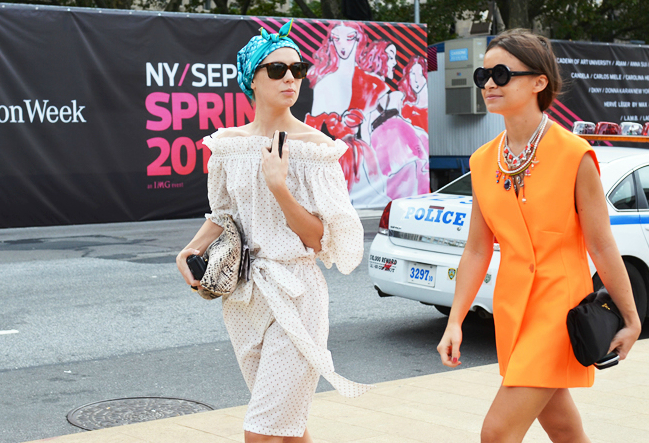 miroslava-duma-orange-blazer-dress-nyfw
