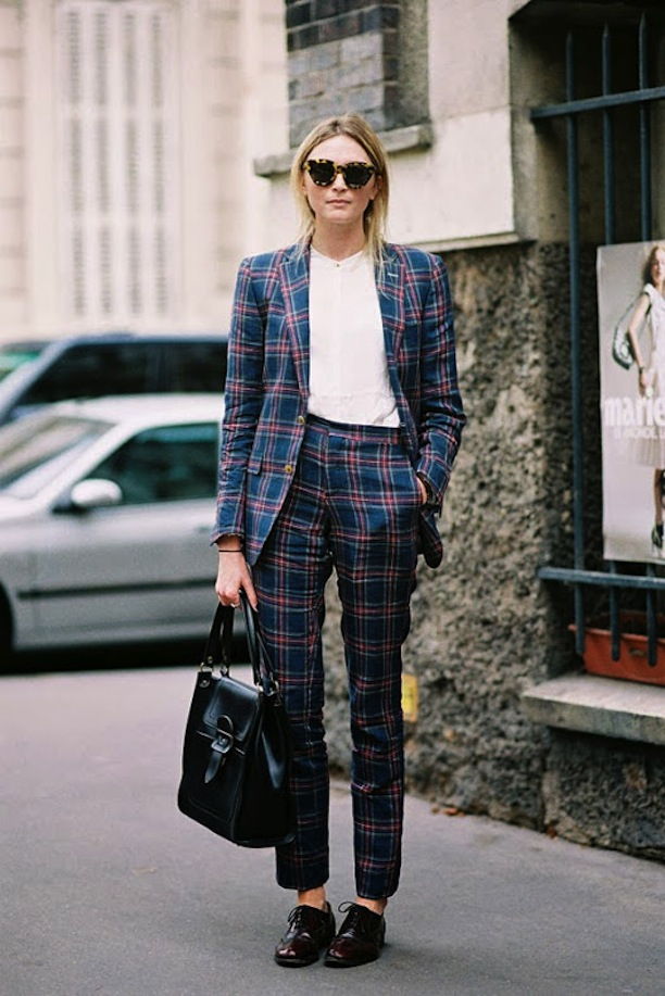 STREET STYLE PLAID PANT SUITS 1