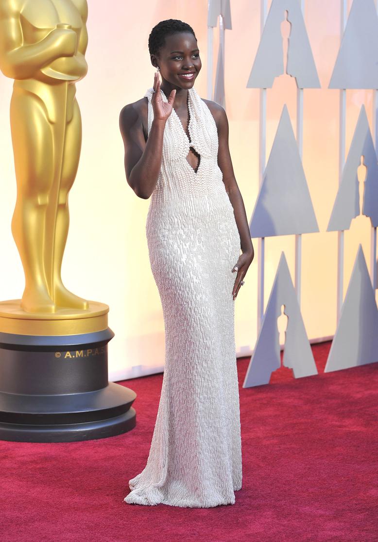 Lupita Nyong'o arrives at the 2015 Annual Academy Awards - 2015