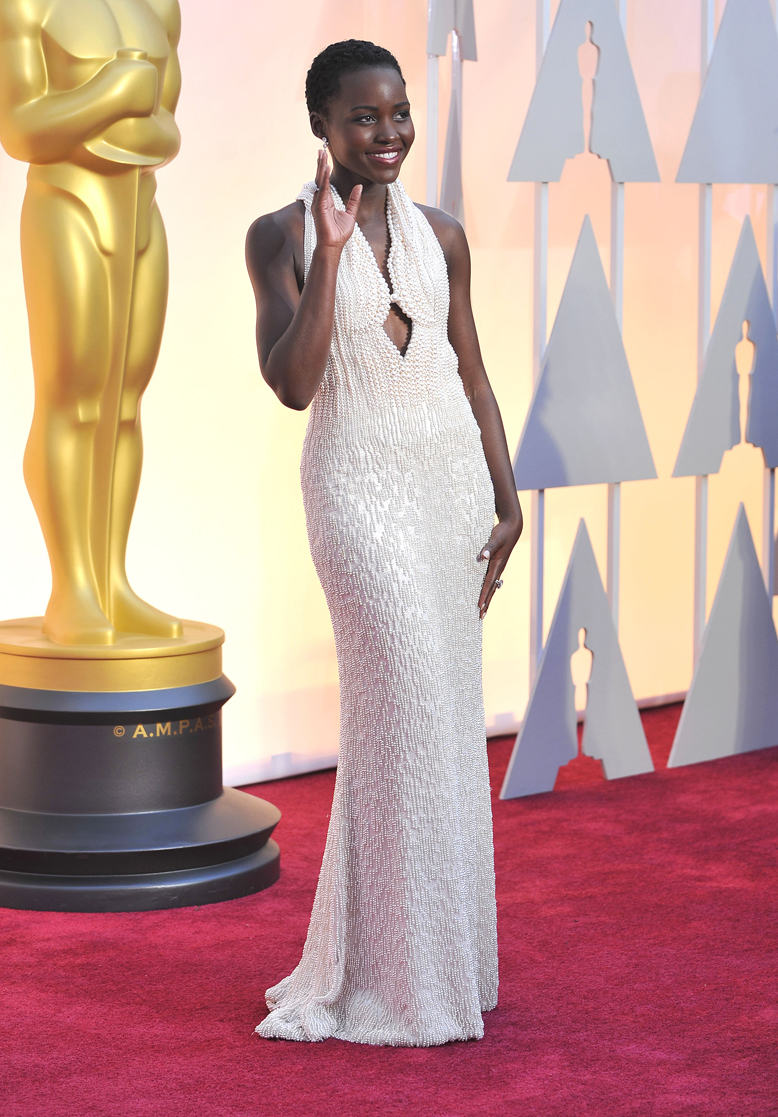 Lupita Nyong'o arrives at the 2015 Annual Academy Awards - 2015