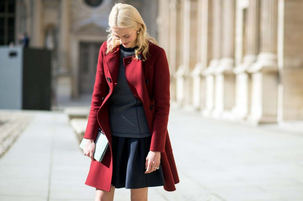 pfw-red-coat-black-mini-skirt-grey-sweatshirt-black-and-grey-via-the-styleograph