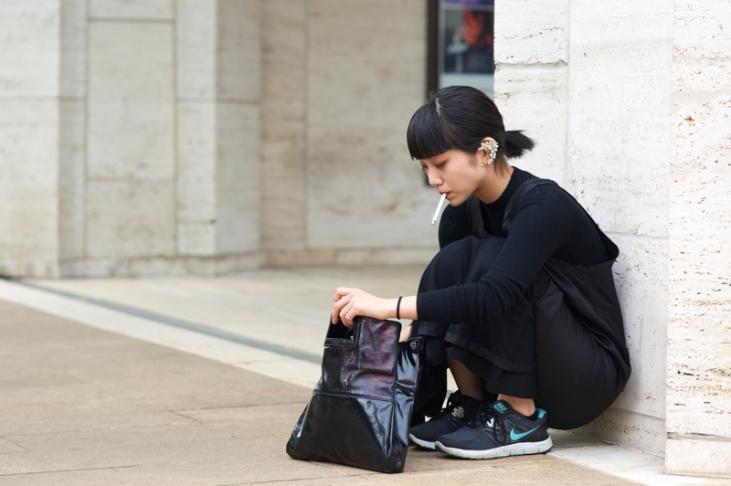 Kyoko-Koyama-BCBGMAXAZRIA-NYFW-Toga-T-by-Alexander-Wang-Nike-An-Unknown-Quantity-New-York-Fashion-Street-Style-Blog