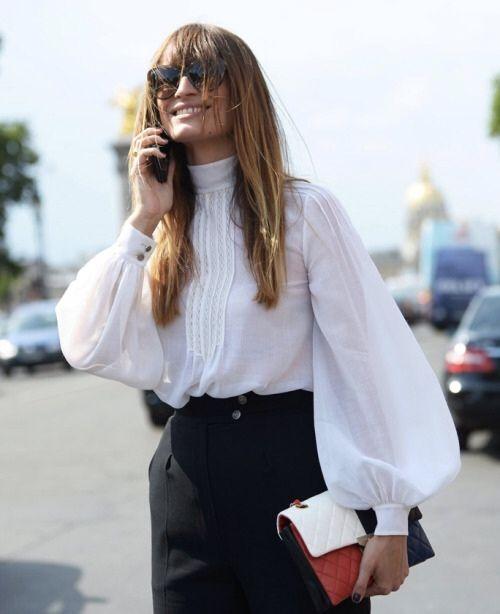 street style-blusa victoriana-blusa rom_ntica-fashion-moda-tendencias oto_o 2015-front row blog-caroline de maigret